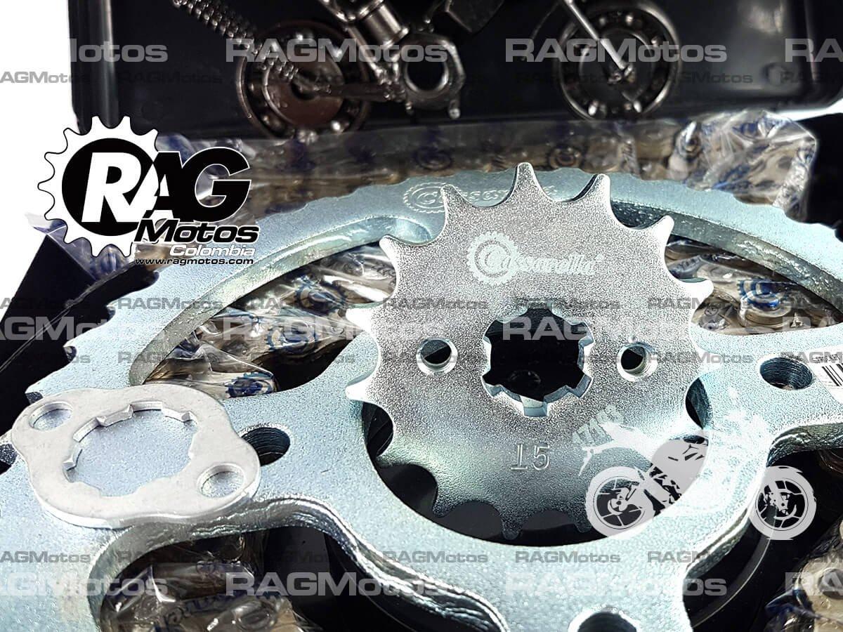 gixxer155 kit racing casarela cadena reforzada dorada orrinada