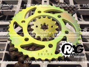 kit arrastre fz 16 fz 2.0 reforzado cadena dorada