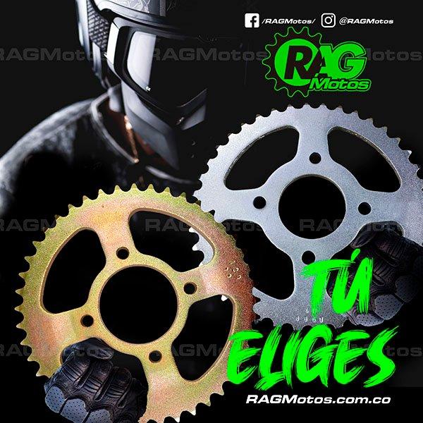 kit arrastre moto dorado plateado cadena orrinada