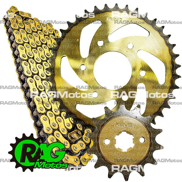pulsar ns 200 bajaj kit arrastre original revo cadena orrinada para moto