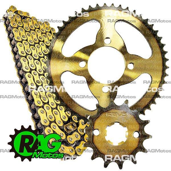 xtz 125 kit arrastre original revo cadena reforzado dorada oring