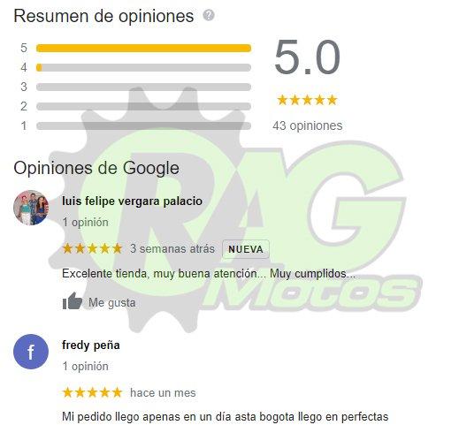 opiniones comentarios ragmotos colombia google